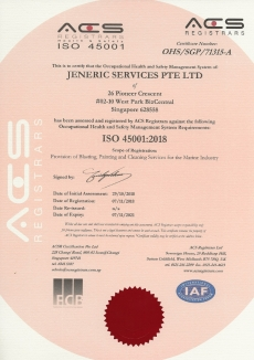 ISO 45001:2018 JENERIC SERVICES PTE LTD