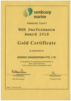 WSH Award 2019_JENERIC ENGINEERING PTE LTD