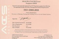 ISO 45001:2018 JENERIC SERVICES PTE LTD