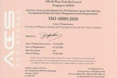 ISO 45001:2018 JENERIC MARINE PTE LTD