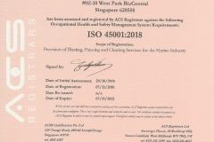 ISO 45001:2018 JENERIC ENGINEERING PTE LTD