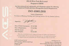 ISO 45001:2018 JENERIC OFFSHORE PTE LTD